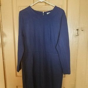 J.Crew cobalt blue dress. Good for work!